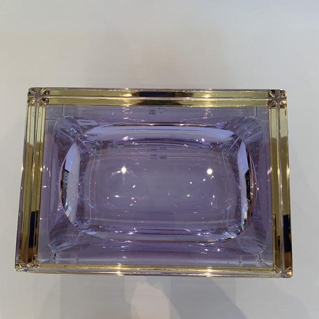 2010s 21st Century Murano Lavender Giant Crystal Jewel Box by Mandruzzato For Sale - Image 5 of 10