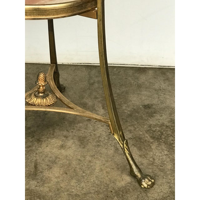 French 20th Century French Marble and Ormolu Neoclassical Gueridon For Sale - Image 3 of 7