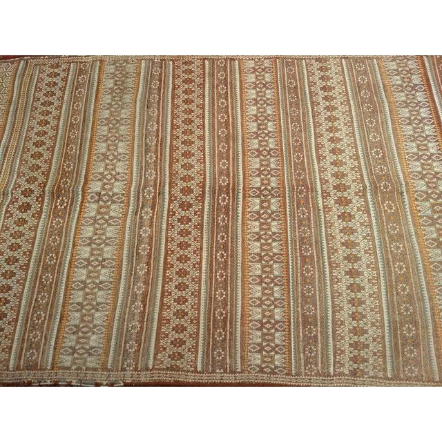 Tribal Vintage Uzbek Kilim Rug - 3′7″ × 6′7″ For Sale - Image 3 of 10