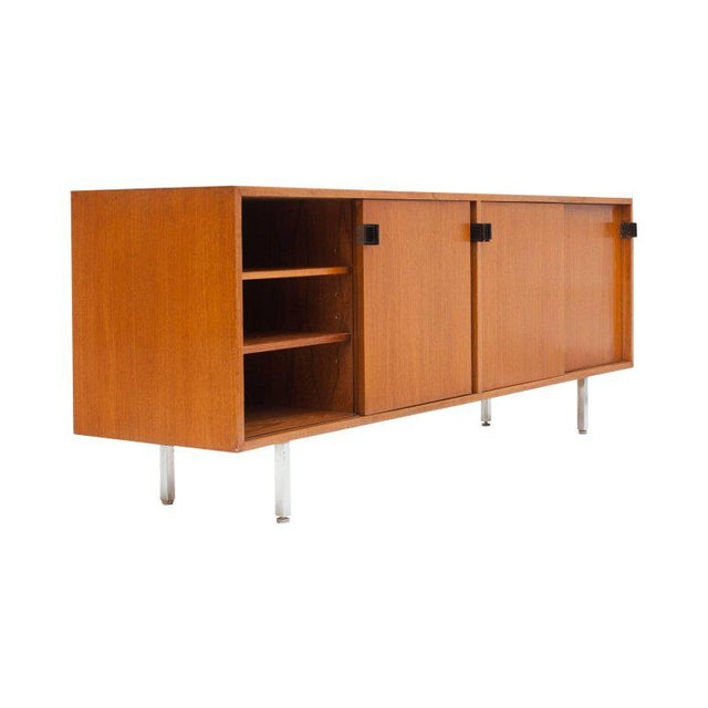 Tan Modern Credenza in Teak by Florence Knoll, Manufactured by De Coene, 1950s For Sale - Image 8 of 11