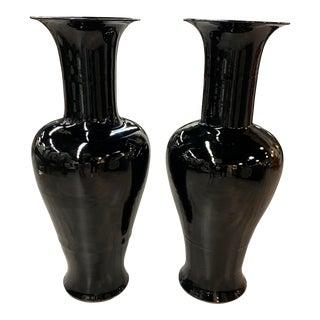 Fabulous XL Black Vase For Sale