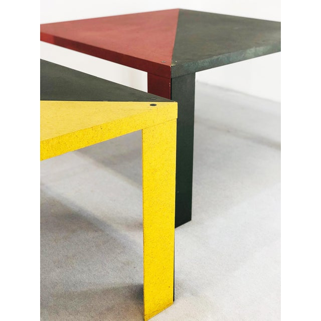 Tangram modular table designed by massimo morozzi for cassina in 1982. The table was created by massimo morozzi for...