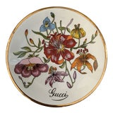 Image of Vintage Gucci Accornero Floral Catchall Ashtray For Sale