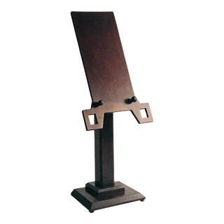 Charles Rohlfs Style Arts and Crafts Table Top Book Stand For Sale