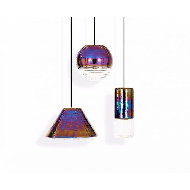 Mid-Century Modern Tom Dixon Flask Ball Pendant in Oil For Sale - Image 3 of 6