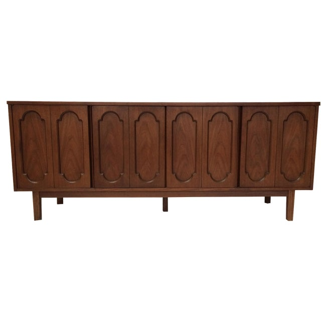 Dixie Mid-Century Inset Panel Sideboard For Sale