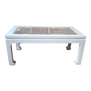 Kravet Singapore Rectangle Cocktail Table For Sale
