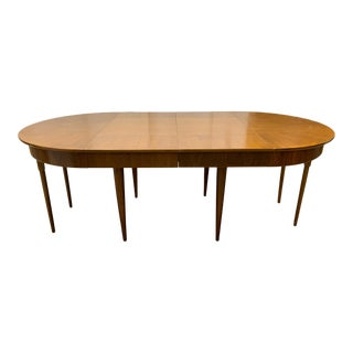 Mid-Century Modern Dining Table With Three Extension Leaves For Sale
