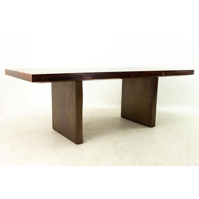 Edward Wormley for Dunbar Mid Century Rosewood and Bronze Executive Desk For Sale - Image 10 of 10