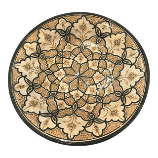 Hand Painted Terra-Cotta Wall Hanging Bowl For Sale