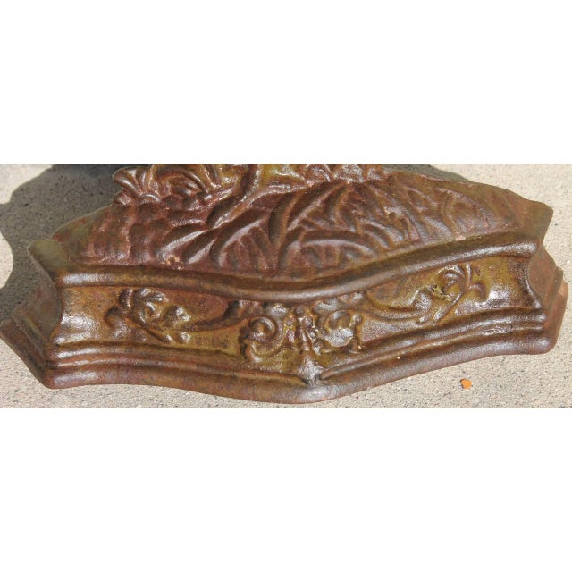 Brass 19th Century Bradley & Hubbard Painted Rooster Iron Door Stop For Sale - Image 7 of 7