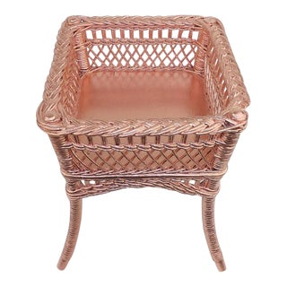Rose Gold Wicker Planter