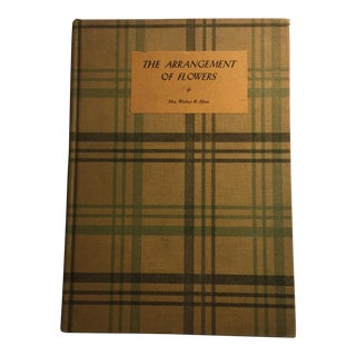"1933 Vintage ""The Arrangement of Flowers"" Book For Sale"