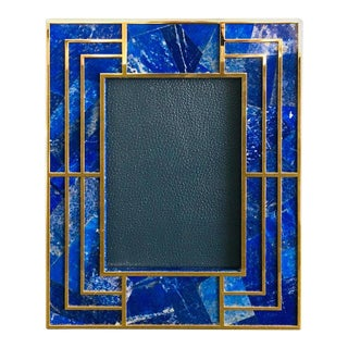Lapiz Lazuli Photo Frame by Fabio Ltd For Sale