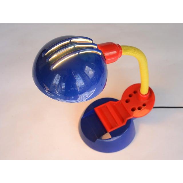 1980s Vintage 1980s Postmodern Memphis Style Tricolor Plastic Desk Lamp For Sale - Image 5 of 12