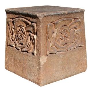 Liberty of London Terracotta Garden Pedestal For Sale