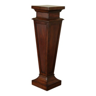 Ethan Allen Mahogany Tall Pedestal Stand For Sale