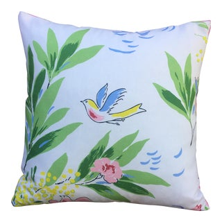 Modern French Spring Birds Pillow For Sale