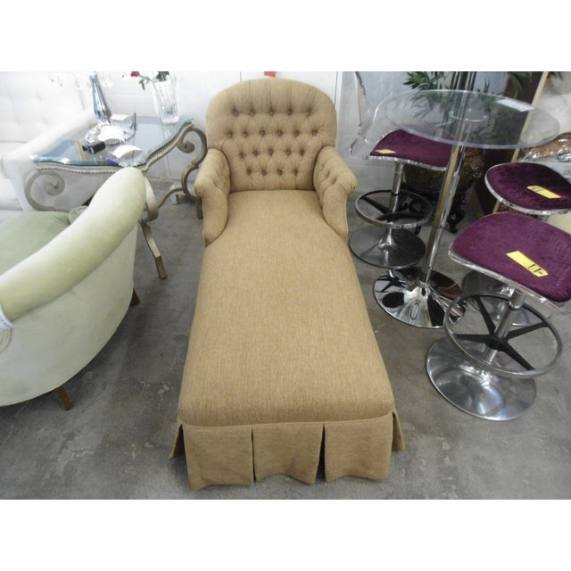 Tufted Brown Chaise - Image 2 of 5