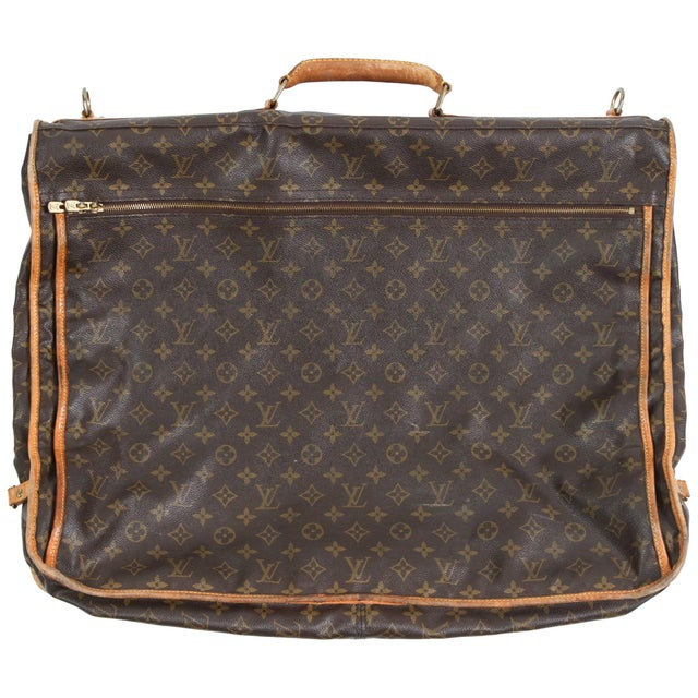 Brown Vintage Louis Vuitton Garment Carrier For Sale - Image 8 of 8