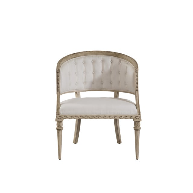 Swedish Wave Rim Occasional Chair For Sale