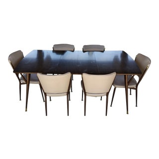 Vintage Space Age Chromcraft Dining Set - 7 Pieces For Sale
