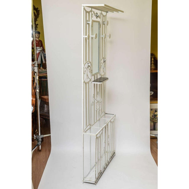 Glass Art Deco French Iron Entry Hall Stand For Sale - Image 7 of 11