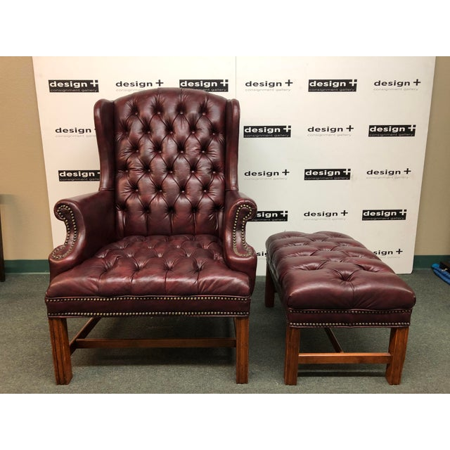 Miraculous Sam Moore Tufted Wing Chair Ottoman Gmtry Best Dining Table And Chair Ideas Images Gmtryco