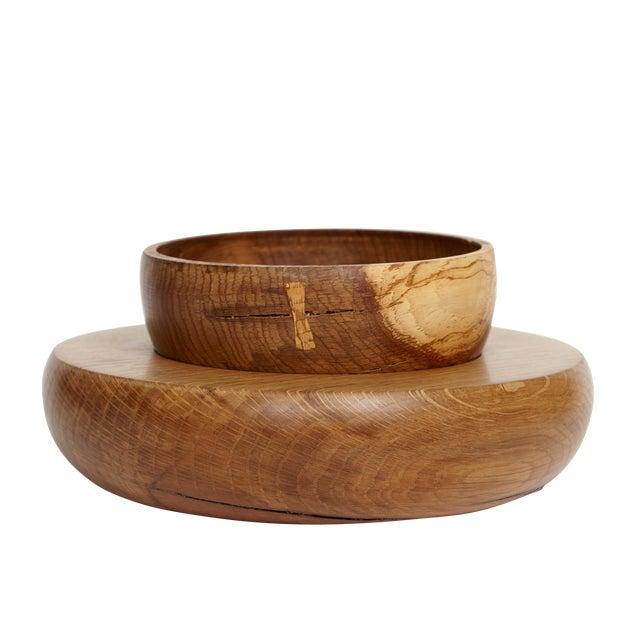 KLOTZWRK Solid Oak Lathe Turned Bowl Set For Sale