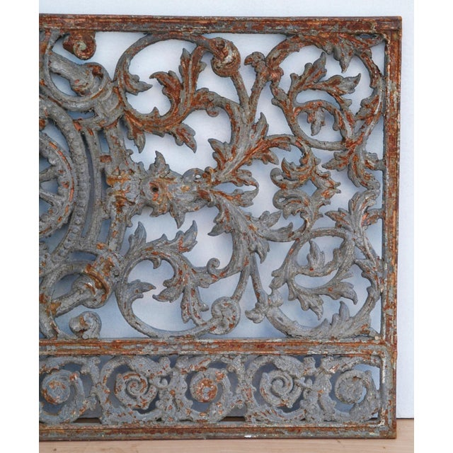 Antique 19th C. French Iron Architectural Panel - Image 6 of 11