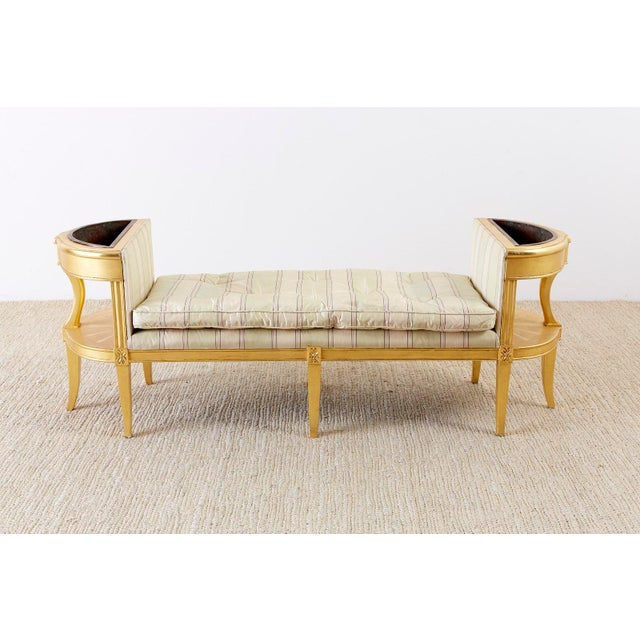Super French Directoire Style Giltwood Window Bench Seat Chairish Theyellowbook Wood Chair Design Ideas Theyellowbookinfo