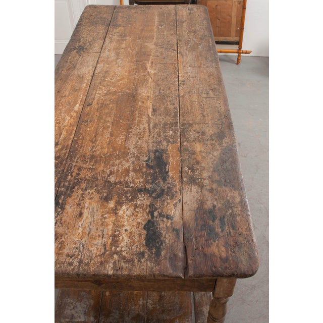 French 19th Century Painted Drapery Table For Sale - Image 10 of 13