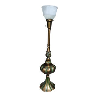Hollywood Regency Stiffel Brass Torchiere Tall Table Lamp For Sale