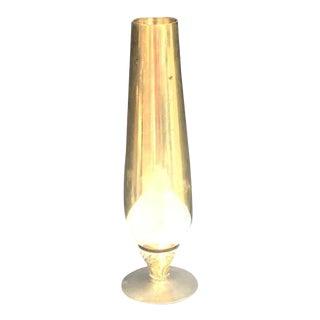 Vintage Brass Pedestal Bud Vase For Sale