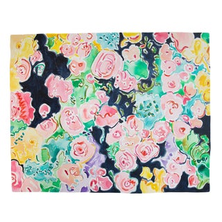 Floral Confetti Original Painting by Kate Lewis For Sale