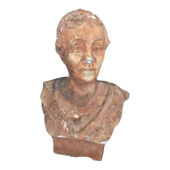 Terra Cotta Bust, Early 20th Century For Sale