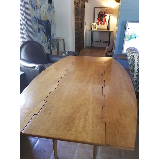 Barney Flagg for Drexel Parallel Drop Leaf Dining Table - Image 8 of 8