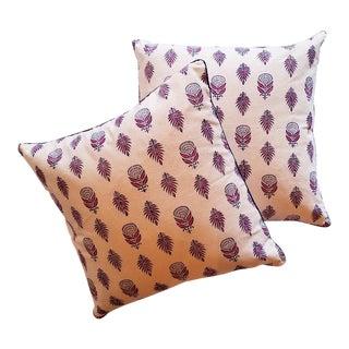 """Art Deco Roberta Roller Rabbit 22"""" Nala Throw Pillows - a Pair For Sale"""