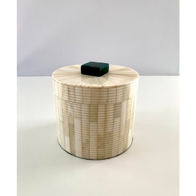 Carved Bone Storage Box For Sale - Image 9 of 9