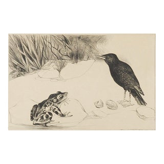 Black Bird & Frog Lithograph Preview