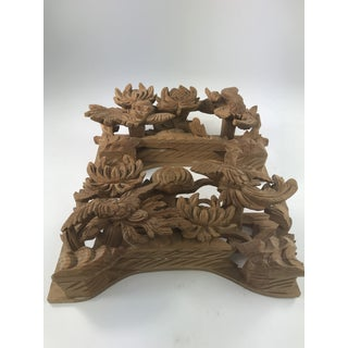 1980s Vintage Chinese Wood Carving Architectural Pieces- A Pair Preview