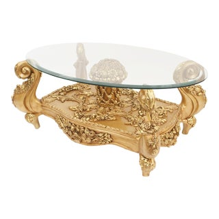 Italian Baroque Style 20th Century Coffee Table For Sale