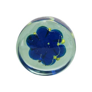 Midcentury Mdina Glass Paper Weight For Sale