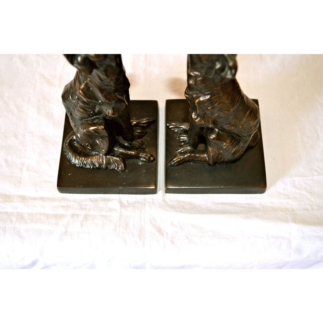 JB Hirsch 1925 Le Loup 'The Wolf' Bookends - 2 - Image 8 of 11
