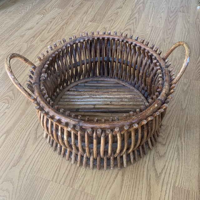 A rare and amazing handmade basket from wooden sticks. All handmade and in excellent condition A amazing piece that is...