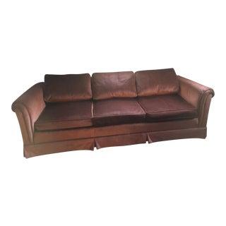 Vintage Rust Velvet Sofa
