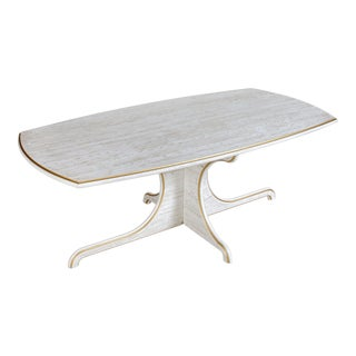 Contemporary White Dining Table For Sale
