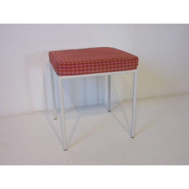 Vista Vanity Stool by Jackson Gregory with Girard Fabric For Sale In Cincinnati - Image 6 of 6