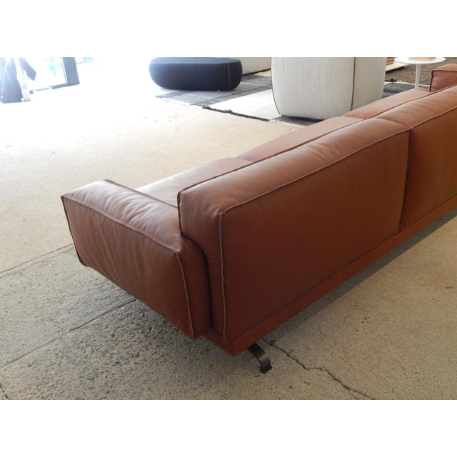 Gordon Guillaumier Lema 'Mustique' Leather Sofa - Image 8 of 9