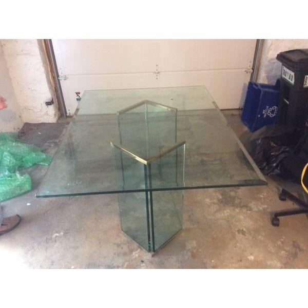 Leon Rosen Sculptural Glass Dining Table - Image 3 of 4